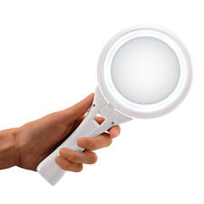1x/ 5x Magnifying LED Makeup Mirror Handheld Makeup Mirror 2-sided Foldable