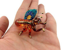 MINIATURE BEE HAND BLOWN GLASS ART BEE FIGURINE ANIMAL SOUVENIR GIFT