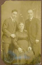 Early Photograph of Two Nicely Dressed Men And An Older Lady, c. 1890's