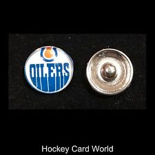 (HCW) Edmonton Oilers NHL Snap Ginger Button Jewelry for Jackets, Bracelets