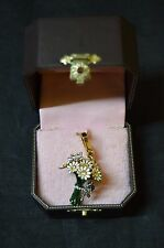Juicy Couture White Daisy Flowers Bouquet Charm W/Butterfly