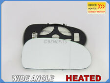 Wing Mirror Glass AUDI TT 1998-2006 Wide Angle HEATED Right Side #A015