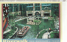 Riverwalk  view of Rivercenter   San Antonio  TX    Unused Chrome Postcard 12114