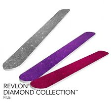Set di 3x Revlon DIAMOND COLLECTION Nail File tre colori-Viola, Rosa, Argento