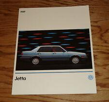 Original 1989 Volkswagen VW Jetta Sales Brochure 89