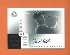 2001 SP AUTHENTIC SIGN OF THE TIMES BRAD ELDER ON CARD AUTO #BE