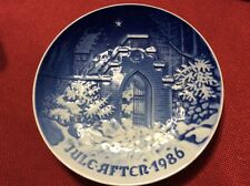 Bing & Grondahl Christmas Signed Blue White Jules After 1986 Plate silent night