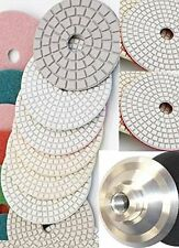 "5"" Diamond Polishing Pad 10 PC + Glaze Buff Granite Marble Concrete Glass Quartz"