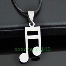 lovely musical note stainless steel Pendant necklace ST86