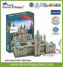 Free shipping Clever&Happy 3D Puzzle Model Canada Parliament Building Paper Diy