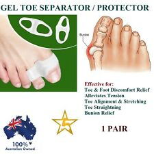1 PAIR X Gel Protector Toe Straightener Separator Alignment Bunion Pain Relief