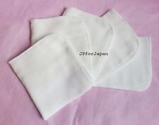 5 x White Cotton Muslin Super Soft Face Buffing cloths Exfoliation Massage Skin