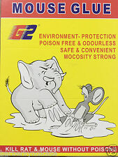 Pack Of 2 Book MOUSE GLUE PAD- KILL RAT & MOUSE WITHOUT POISONS- ENVIRONMENT FRI