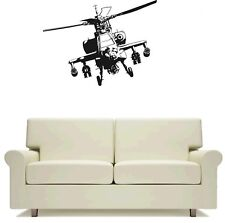 Apachie Helicopter Army Wall Art Sticker Free Postage