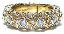 LARGE SONIA BITTON 14K YELLOW GOLD 1.65CT STACKABLE ETERNITY RING BAND SIZE 8.25
