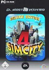 SIM CITY 4 + AddOn Rush Hour Deluxe Deutsch Gebraucht Top Zustand