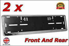 2x Delux Chrome Car Custom Number Plate Licence Holder Audi RS6 RS5 RS7