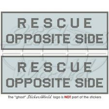 "RESCUE OPPOSITE SIDE LowVis Aircraft RAF USAF NATO 50mm (2"") Stickers Decals x2"
