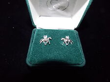 JEWELRY CHIPPENDALE COLLECTION STERLING SILVER TROTTING HORSE WITH ZICORIAN CHIP