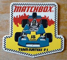 Matchbox Team Surtees Formula 1 Racing Motorsport Sticker / Decal
