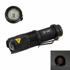 Tactical 5W 940nm LED Infrared Radiation notte visioneLight IR Flashlight torcia