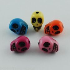 25 x Loose Antique Acrylic Skull Beads Mixed Color 13mm with Hole(MACR-S778-M)