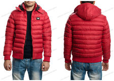 MEN ARMANI BOMBER JACKET COAT HOODED LONG SLEEVE SIZE XL FITS LIKE L RED COLOR