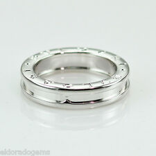 BVLGARI BULGARI B.ZERO1 RING 18K WHITE GOLD BAND SIZE 51, US 5.5