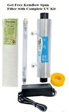 "For RO/UV Water Filter Purifier 8"" Philips UV Lamp+Kemflo Spun+Barrel+Adapter"