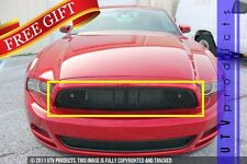 2013 - 2014 Ford MUSTANG GT 1PC UPPER REPLACEMENT BLACK & BLACK MESH GRILLE KIT
