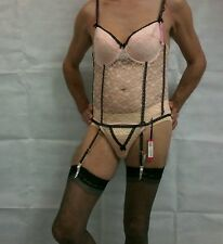 Basque et jarretelles 36 b travesti cross chiffonniers sissy