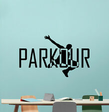 Parkour Wall Decal Extreme Sport Vinyl Sticker Gym Poster Decor Art Mural 54hor