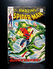 COMICS: Marvel: Amazing Spiderman #71 (1969), Quicksilver app - RARE