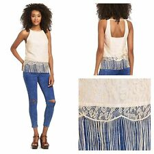 South Plus Size 22  Simply Fab Lace Fringe Sleeveless TOP Party Be Summer