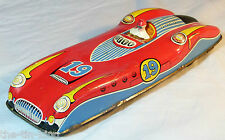 SPLENDID OLD VINTAGE TIN TOY FRICTION FERRARI RACING RACE SPORTS CAR C 1950S