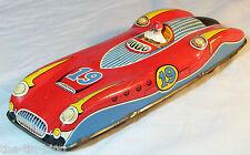 SPLENDID OLD VINTAGE TIN TOY FRICTION FERRARI RACING RACE SPORTS CAR C 1950S