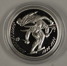 1998 Canada Downhill Skiing and Ski Jump Sterling Silver 50c Proof Coin In Case