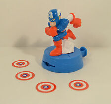 "2009 Shooting Captain America 4"" Burger King Marvel Super Hero Squad Figure"