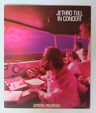 "Program Official  ""Jethro Tull in concert"""