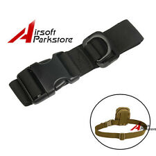 "1.5"" Tactical Outdoor Hunting Waist Belt Strap for Hanging Molle Pouch Bag Black"