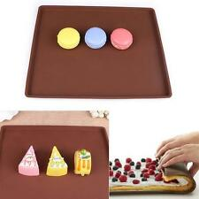 Flexible Silicone Pastry Cookie Cooking Mould Cakes Roll Baking Pan Sheet Pad TR
