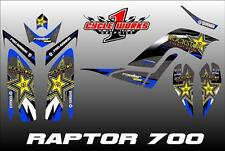 Yamaha Raptor 700 06-12  SEMI CUSTOM GRAPHICS KIT MILK CHESTER BLU