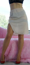VTG Formfit Rogers Beige Smooth Nylon Simple Classic Half Slip Skirt sz S
