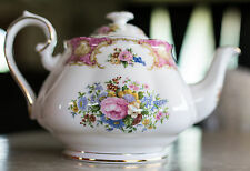Vintage Royal Albert China Teapot Lady Carlyle 48 Ounce 6 Cup England Tea Pot