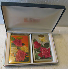 2 OLDER UNOPENED DECKS OF GONGRESS PLAYING CARDS IN LEATHERETTE GIFT BOX