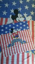 Disney Bettwäsche bedding Micky Mickey Maus vintage fabric 70s 80s American flag