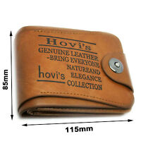 Soft men's bifold leather wallet coins bag pocket purse credit card pouch holder