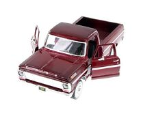 """1:24 Scale Motor Max 1969 Ford F-100 Pickup truck diecast model 8"""" Long RED"""