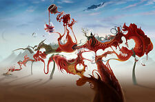 Incorniciato stampa-Salvador Dali WEIRD New World (DIPINTO PICTURE POSTER ABSTRACT)