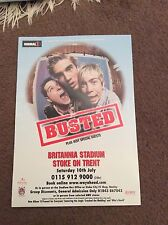 BUSTED- BRITANNIA STADIUM STOKE ON TRENT 2004- RARE CONCERT FLYER